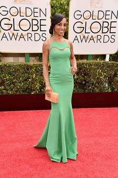 Shaun Robinson at the Golden Globes - Best of 2015: Red Carpet Gowns - Photos