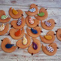 Clay Art, Easy Diy, Polymer Clay, Christmas Decorations, Birds, Ceramics, Food, Tags, Spring