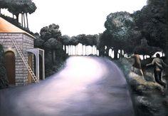 NADA ACKEL. JOUAR, 1990. Huile sur toile (oil on canvas), 81x100 cm.