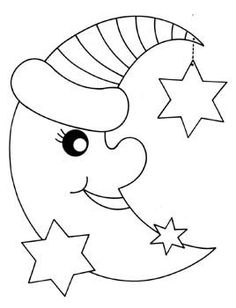Baby Animals Crafts For Kids Coloring Pages 48 Ideas Art Drawings For Kids, Drawing For Kids, Easy Drawings, Moon Coloring Pages, Coloring Books, Animal Crafts For Kids, Applique Patterns, Applique Templates, Coloring Pages For Kids