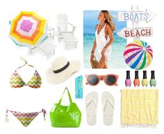 """Beach Day"" by kelly-cavender ❤ liked on Polyvore featuring Toast, Sundek, Havaianas, Polywood, SwimSpot, Madewell, Victoria's Secret, ORLY, Amici Accessories and Sunnylife"