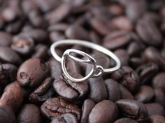 Sterling coffee cup ring - tladesigns on Etsy