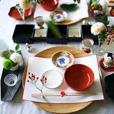 Japanese Table, Japanese New Year, Japanese Food, Japanese Homes, Table Set Up, A Table, Sushi Menu, New Year Table, New Year's Food