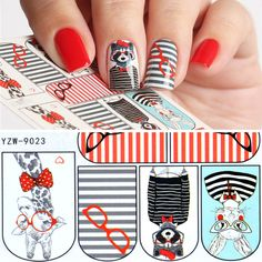YZWLE 1 Sheet Nail Art Water Transfer Sticker Decals Cute Rabbit Cartoon Stickers Wraps Tips Decoration For Girl Nails Manicure  EUR 0.17  Meer informatie  http://ift.tt/2t47czs #aliexpress