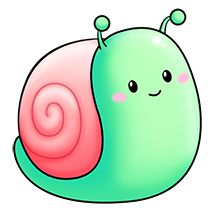 Snail clipart snail mail - pin to your gallery. Explore what was found for the snail clipart snail mail Cute Cartoon Drawings, Cute Kawaii Drawings, Cute Animal Drawings, Easy Drawings, Snail Cartoon, Cute Cartoon Animals, Baby Animals, Cute Animals, 365 Kawaii