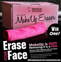 WIN a Makeup Eraser! This eco-friendly cloth is reusable, so there is no need to buy and throw-away cotton balls, 1 time use makeup remover wipes and expensive makeup remover. Plus, no more ruining washcloths- simply throw it in the wash and no stains remain.