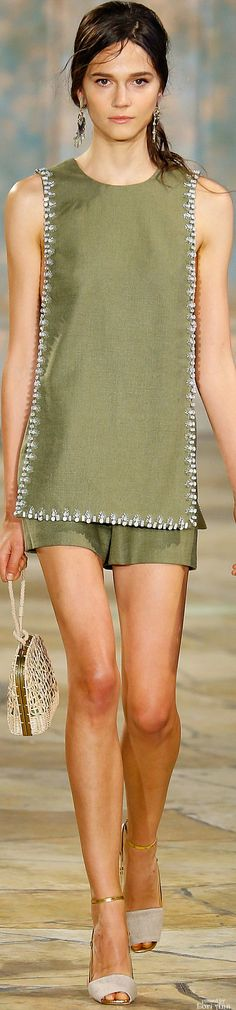 Tory Burch Spring 2016  women fashion outfit clothing style apparel @roressclothes closet ideas