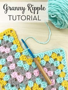 how to crochet a granny ripple afghan--free tutorial!
