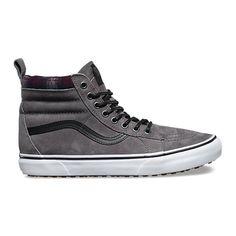 MTE SK8-Hi MTE ($85) ❤ liked on Polyvore featuring men's fashion, men's shoes, men's sneakers, mens leather shoes, mens black leather high top sneakers, mens leather sneakers, vans mens shoes and mens cap toe shoes