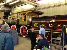 The York 17, a steam locomotive Dave Kloke and his team built and will be delivering to Steam Into History in York, PA in the spring of 2013.