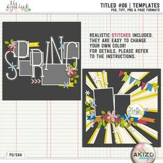Titled #06 | Templates by Akizo Designs - for Digital Scrapbooking Layout Page