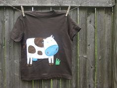 Hey, I found this really awesome Etsy listing at http://www.etsy.com/listing/99944446/mooooo-goes-the-cow-kids-t-shirt-farm