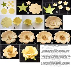Bits of Paper: Another Flower Tutorial!   Uses Creative Memories punches.