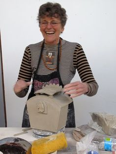 Lana Wilson is a high energy gal - her workshops are terrific...your cheek muscles will hurt from all the laughing - and you learn a lot about clay, too.