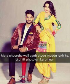 Mankirt aulakh jiiiii Pics Of Cute Couples, Cute Couple Quotes, Girly Quotes, Romantic Quotes, Cute Quotes, Punjabi Captions, Impress Quotes, Song Lyric Quotes, Song Lyrics