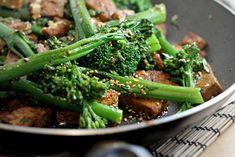 Broccolini with Tofu, Sesame and Coriander
