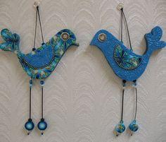 Handmade love birds Wall decor love birds Polymer by ShuliDesigns, $45.00