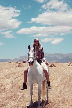 I see the girl I wanna be, riding bareback, carefree along the shore.
