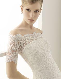 silver wedding dresses for older brides | Alma Novia 2011 Wedding Dress from fashionbride.wordpress.com