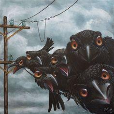 68 Ideas for dark art woman ravens Crow Art, Raven Art, Bird Art, Art And Illustration, Crows Ravens, Mundo Animal, Oeuvre D'art, Wicca, Female Art