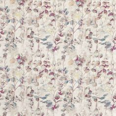 Aquarelle in Wild Rose by Prestigious Textiles | Curtain Fabric Store Lined Curtains, Custom Curtains, Curtains With Blinds, How To Make Curtains, Made To Measure Curtains, Curtain Material, Curtain Fabric, Fabric Patterns, Flower Patterns