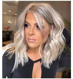medium silver blonde hair