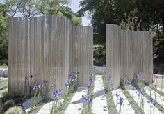 Steel rods as fence screens