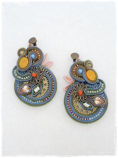 ソウタシエイヤリング ボヘミアン  「送料無料」 bohemian soutache earrings Anys G00006