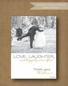 modern wedding thank you card PRINTABLE by xSimplyModernDesignx