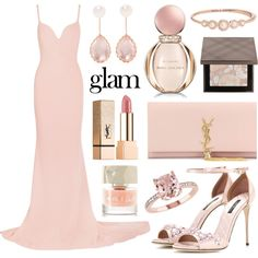 Rosé Champagne by alyssawui on Polyvore featuring STELLA McCARTNEY, Dolce&Gabbana, Yves Saint Laurent, Larkspur & Hawk, Kate Spade, Burberry, Bulgari, Smith & Cult and Naeem Khan