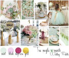 {Inspiration Board} verde menta, rosa cipria, rosa intenso e oro - Tra moglie e marito