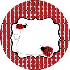 Image result for convite joaninha passo a passo