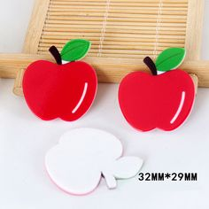 50pcs/lot Cartoon Fresh Fruit Resina Red Apple Resin Flatback DIY Planar Resin Craft for Home Decoration Accessories DL-541