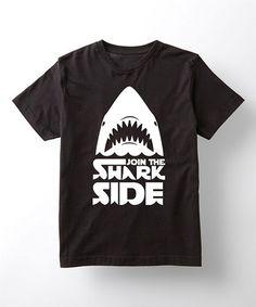 Look at this #zulilyfind! Black 'Join the Shark Side' Tee - Kids #zulilyfinds