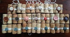 20 Wine Cork Vintage Button Table Number Escort Place Card Holders $50