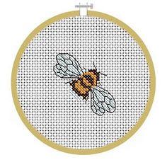 Free Bee Cross Stitch Pattern