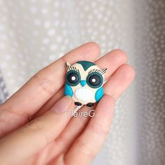Owl brooch Gift for girlfriend Gift for her Polymer Clay