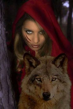 Red Riding Hood in love with wolf..And they lived happily ever after. :D