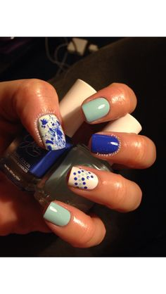 Dotticure/Splatter Nails by YoungWildandPolished