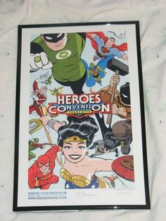 New Frontier Art Print // Heroes Convention 2008 // Darwyn Cooke// SIGNED