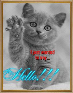 Missing your #mom? Send her an adorable hello with this cute #kitty #ecard.