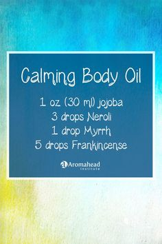 Calming body oil with essential oils