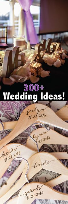 Over 300 great ideas for your wedding - ideas for decor, accessories, even gifts!