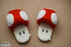 Want! Toad slippers