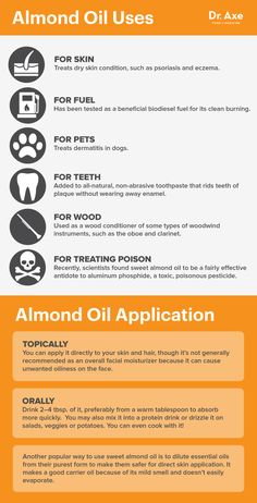Almond oil uses - Dr. Axe http://www.draxe.com #health #holistic #natural #detox