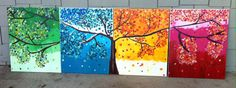 4 Seasons Tree Painting. Available at www.etsy.com/shop/MapleAndSpice