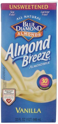 Blue Diamond Almond Breeze Unsweetened Vanilla, 32-ounce (Pack of 6) >>> Details can be found by clicking on the image.