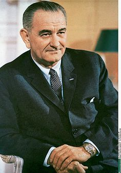 Lyndon B Johnson in his Rolex Day-Date