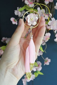 Mini Dream Catcher for Car, Pink Car Accessories, Rearview Mirror Car Charm, Dreamcatcher, Girly, Gi