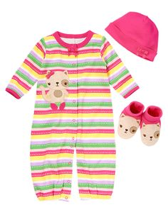 Gymboree Kitty Three Piece Set